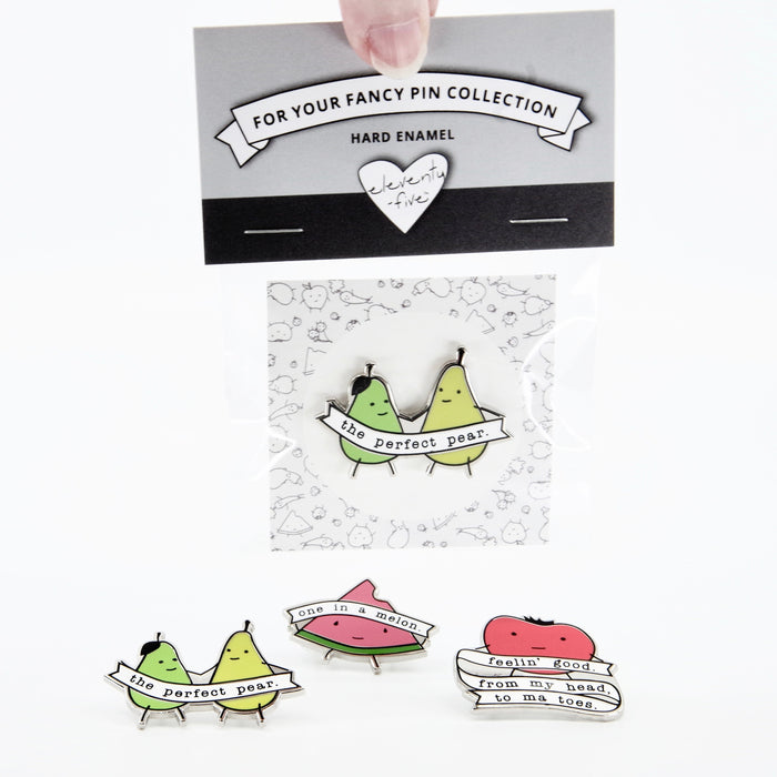 Watermelon Pin, Funny Pins, One in a Melon, Valentines Day Gift, Enamel Pins Pun, Punny Gifts, Watermelon Enamel Pins, Pink Enamel Pin, wholesale pins