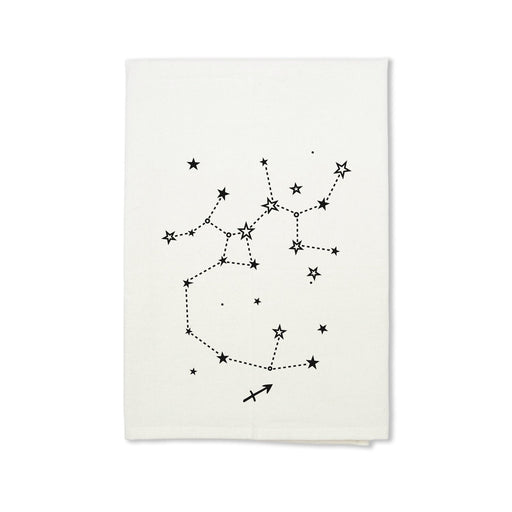 Sagittarius Zodiac Sign Organic Cotton Tea Towel