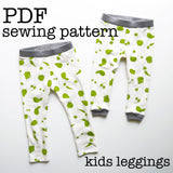 Kids Leggings Sewing Tutorial PDF Download