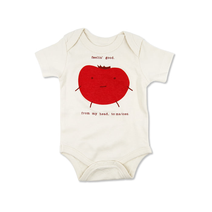 funny cute gender neutral organic baby gifts tee onesie bodysuit clothes pun tomato