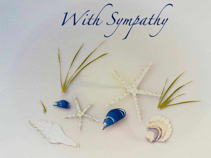 Shells on Beach Sympathy Card