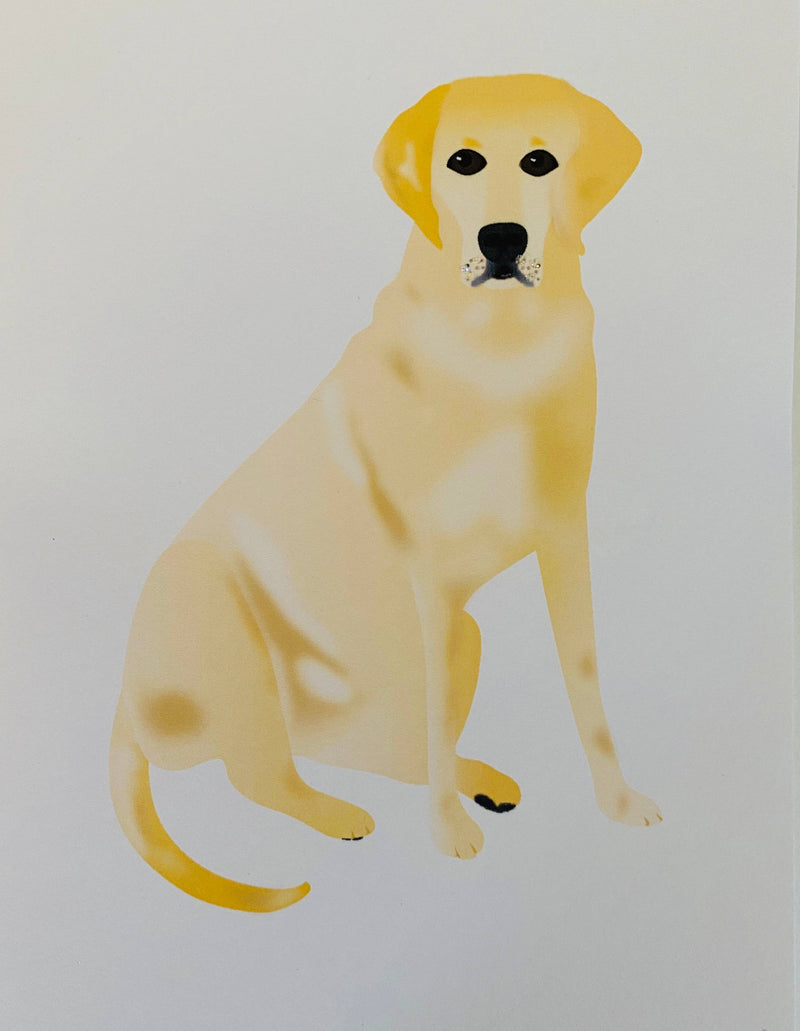 Sitting Yellow Lab