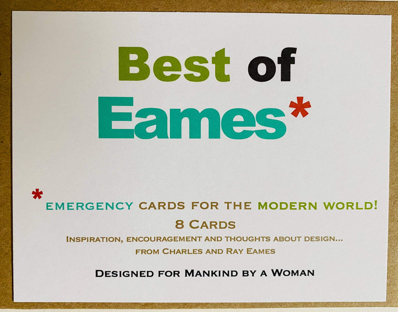 Best of Eames Quotes Mixed Notes - Boxed Note Cards, Handmade Note Cards