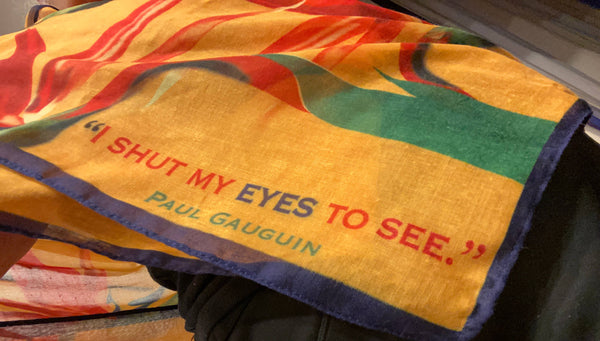 Tropical Bird of Paradise Rectangular Scarf w/ Gauguin Quote
