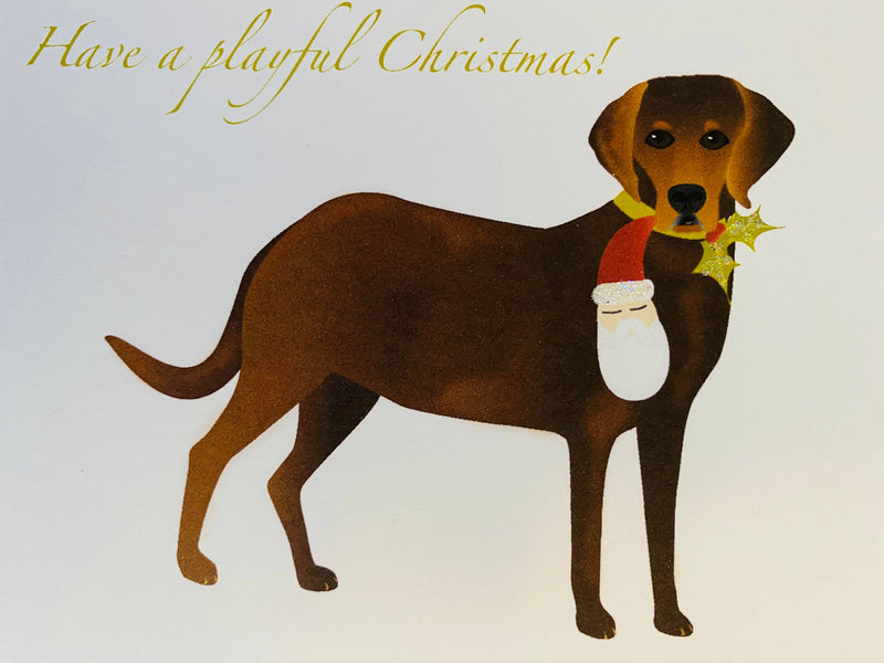 Christmas Lab Dog, Holiday Card