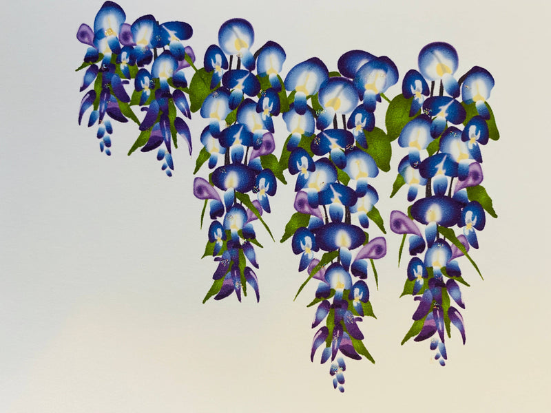 Wisteria Flower, Blank Card
