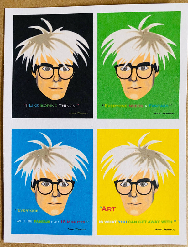 Mixed Box of Warhol Quotes