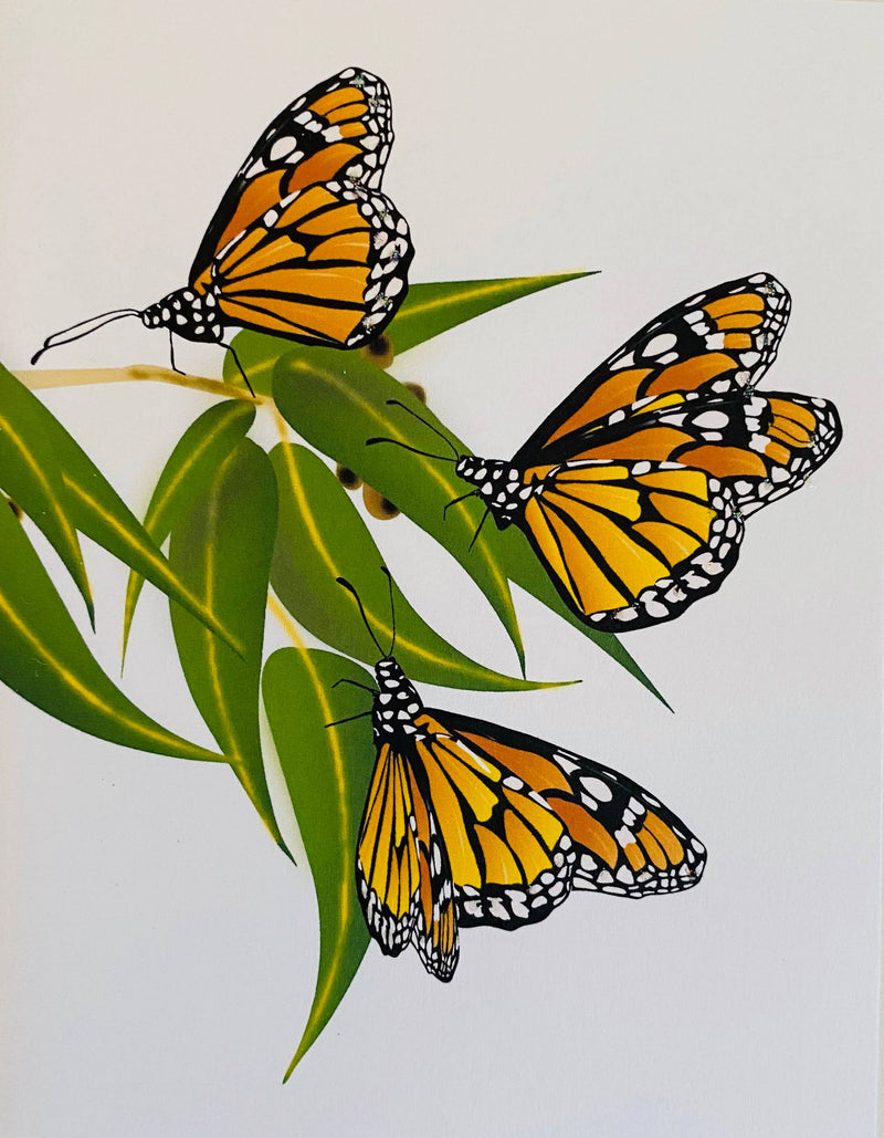 Monarch Butterflies + Eucalyptus