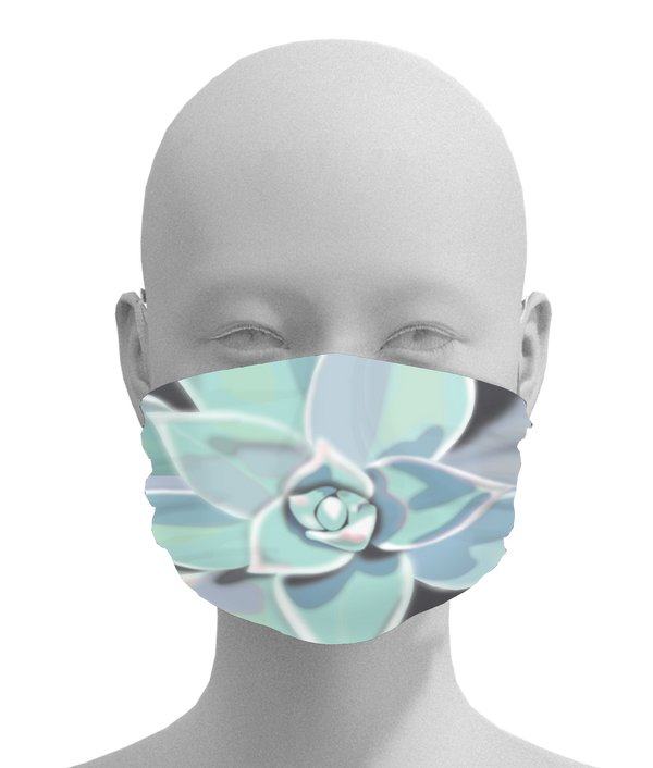 Blue Green Succculant Face Mask