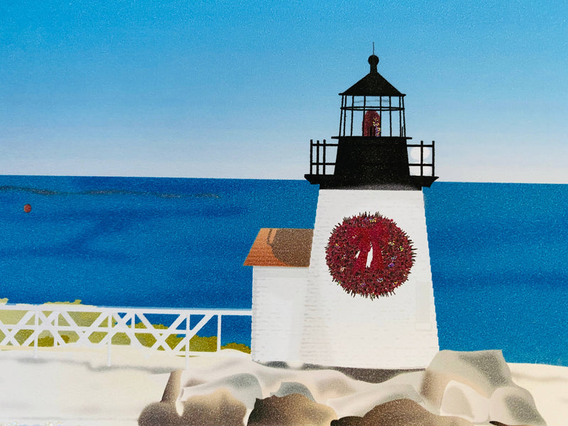 Christmas Lighthouse, Holiday Card
