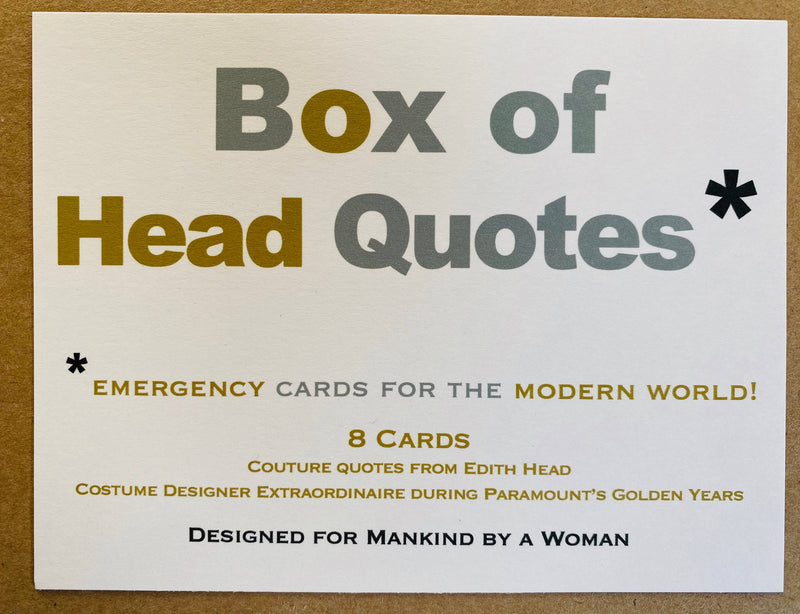 Box of Edith Head Quotes Mixed Notes