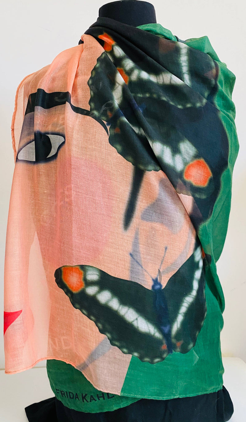 Latina with Butterflies Rectangular Scarf