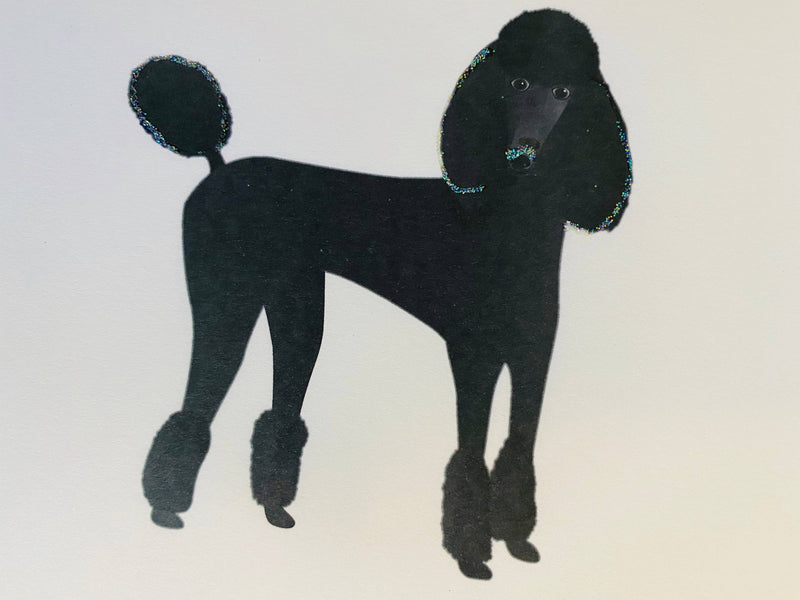 Black Standing Poodle Dog
