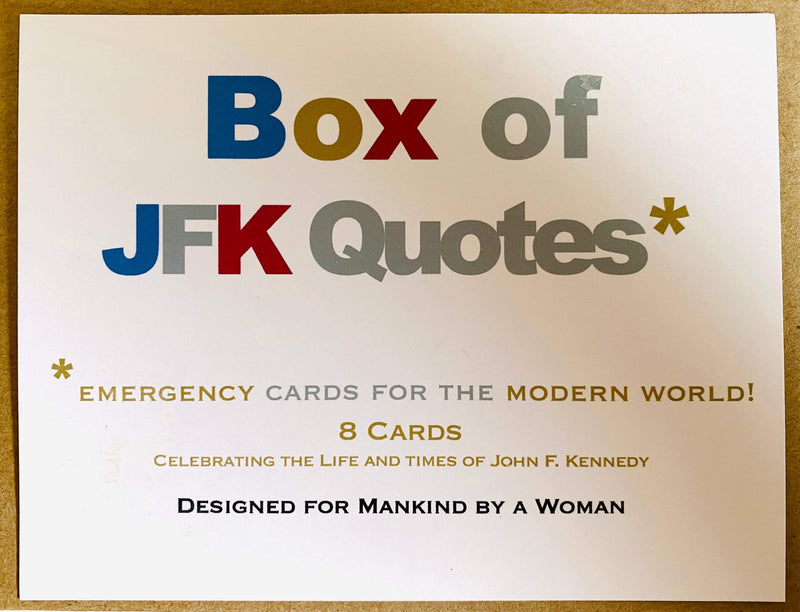Box of JFK Quotes Mixed Notes - Boxed Note Cards, Handmade Note Cards