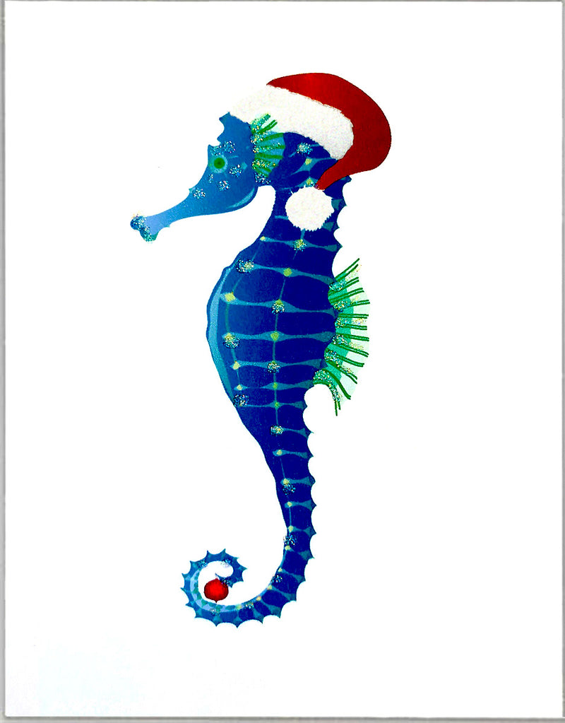 Christmas Sea Horse, Holiday Card