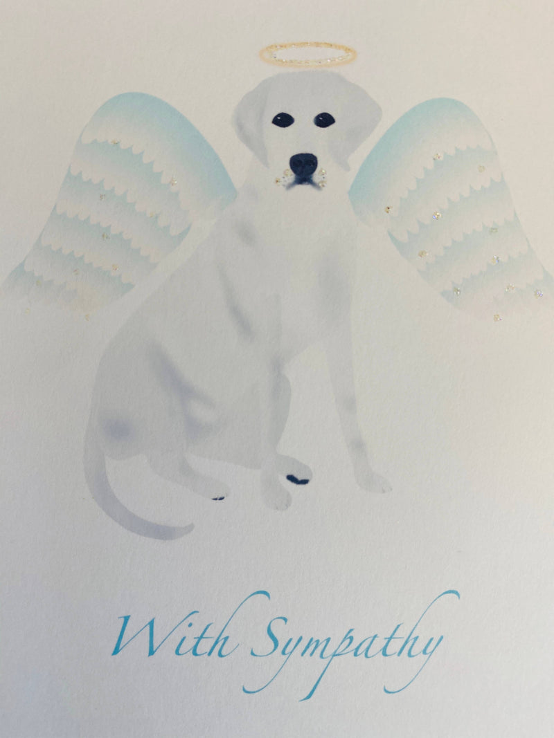 Angel Lab Pet Sympathy Card