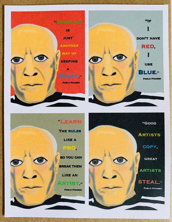 Mixed Box of Picasso Quotes