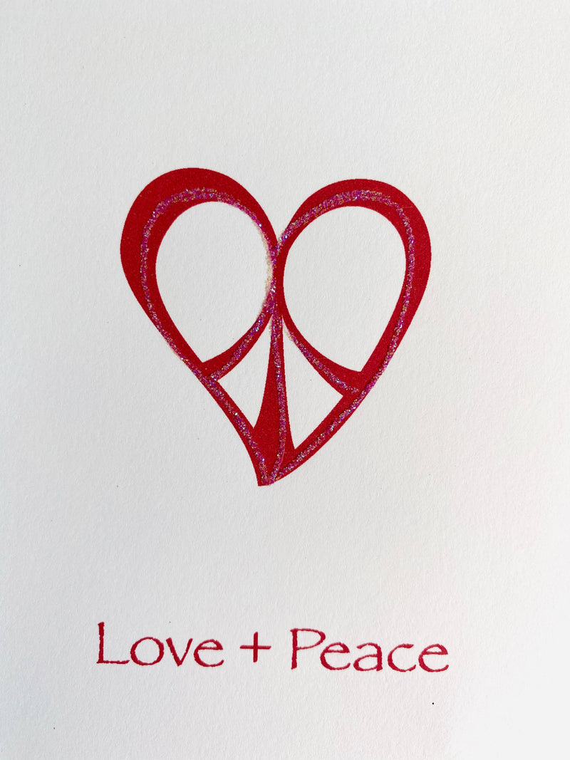 Peace Heart notecards