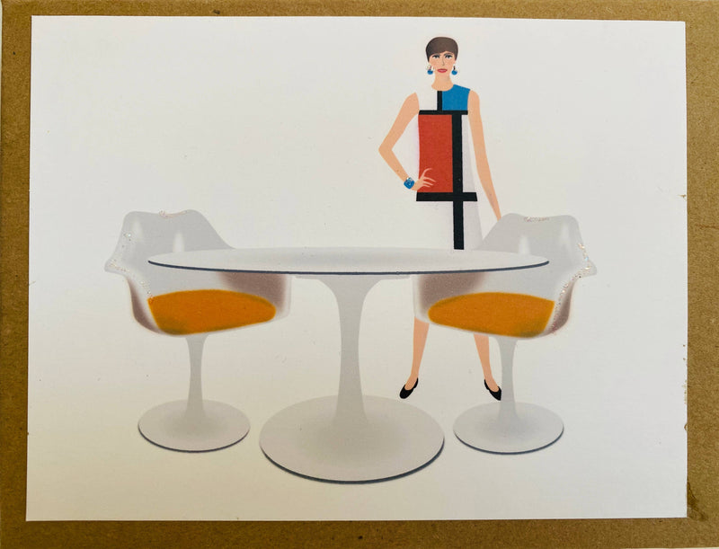 Mod Table and Chairs