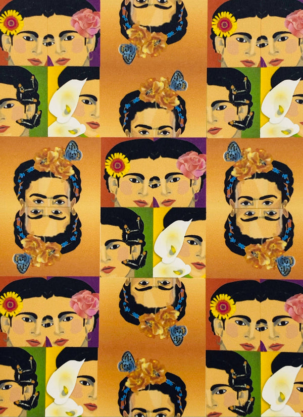 Latina Artist Frida Inspired Collage - Boxed Note Cards