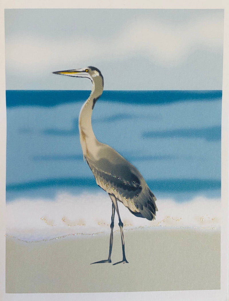 Heron Bird at Beach