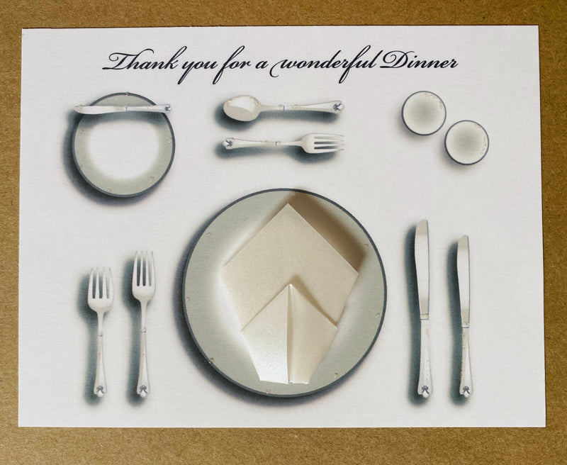 Place Setting with Napkin Note Cards
