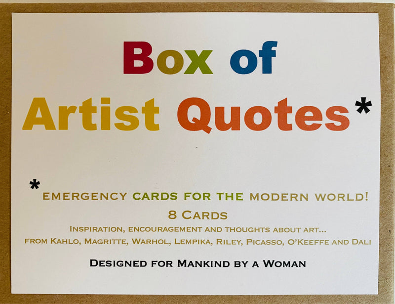 Box of Artist Quotes Mixed Notes