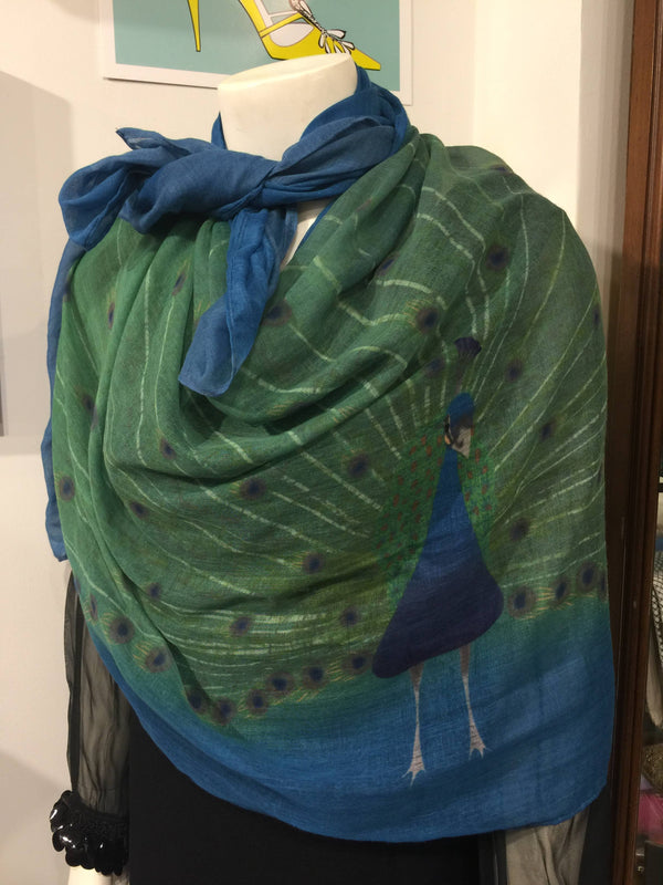 Peacock Rectangular Scarf