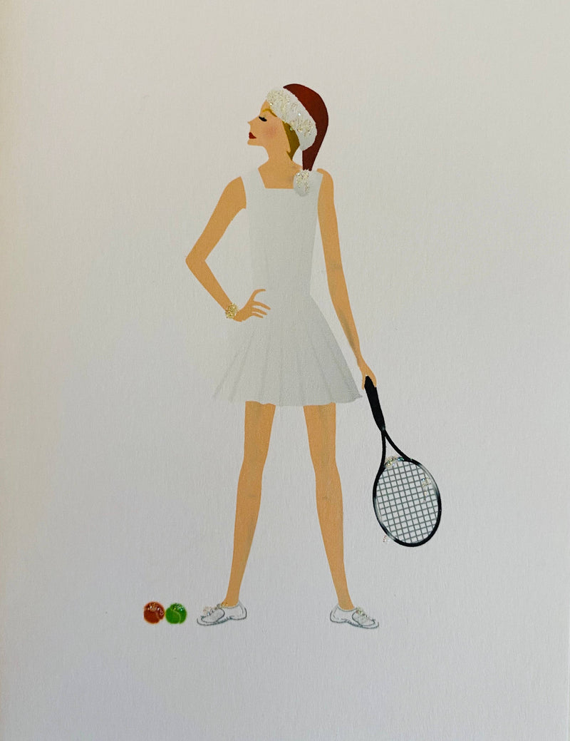 Christmas Tennis Gal