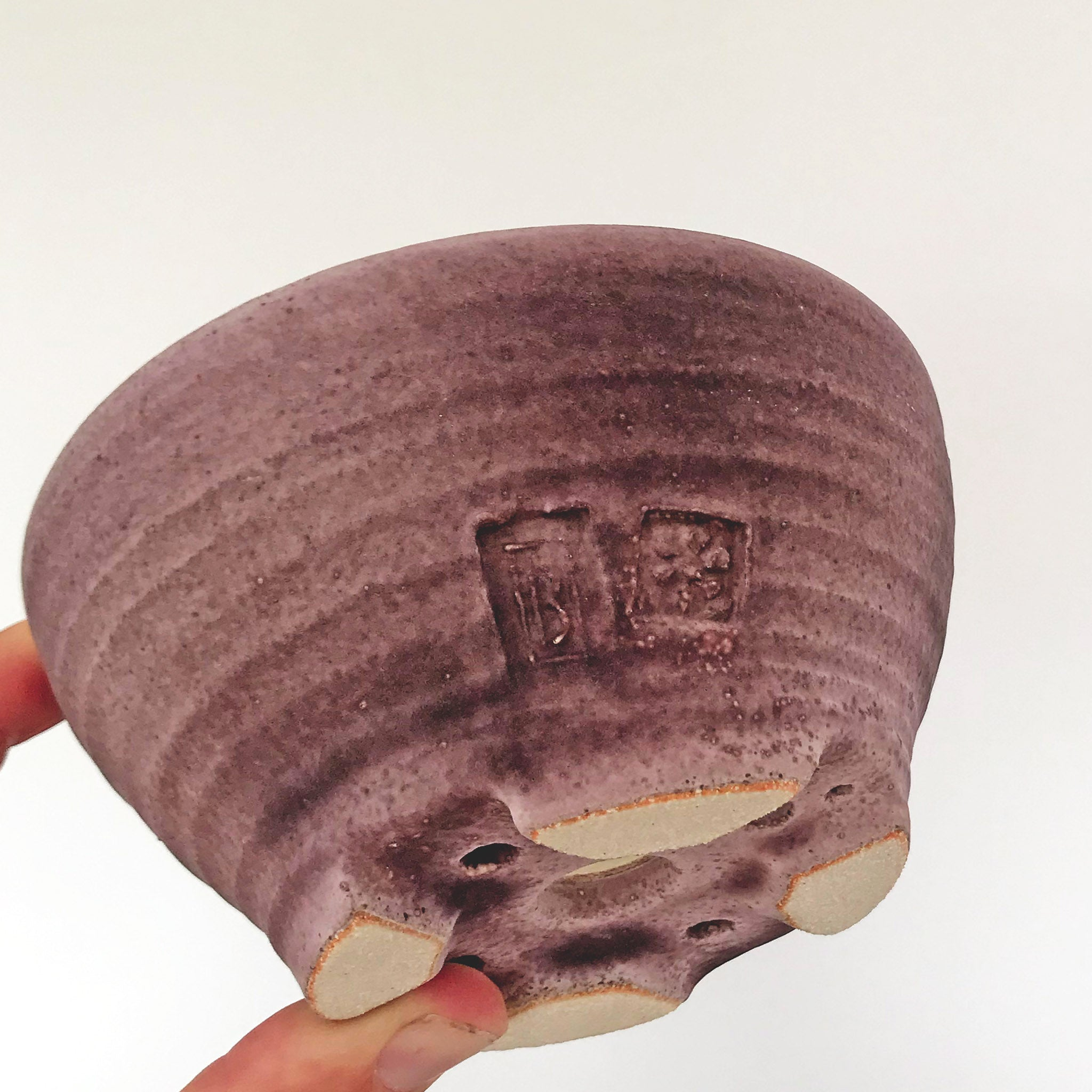 Bonsai Pot - Small Purple Round