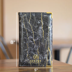 Luxe Server Book - Black Marble