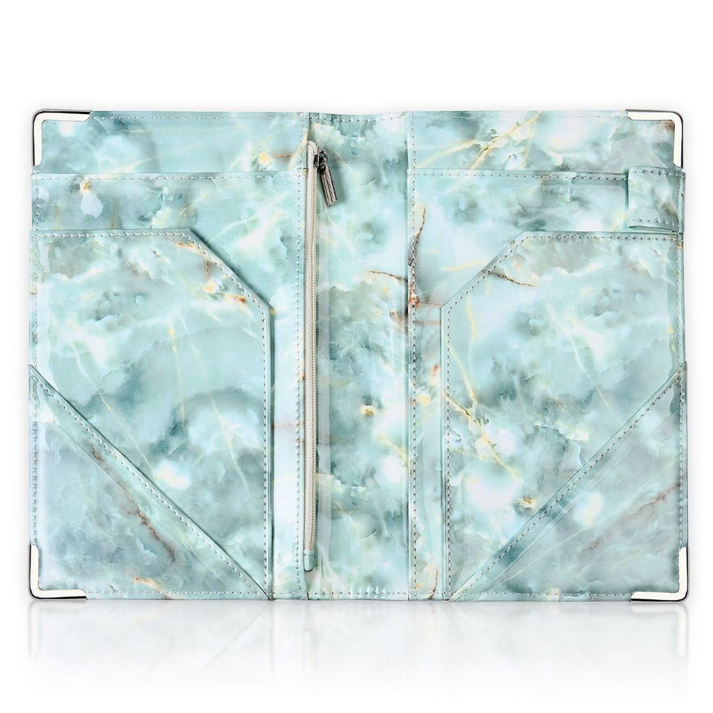 Luxe Server Book - Teal Marble