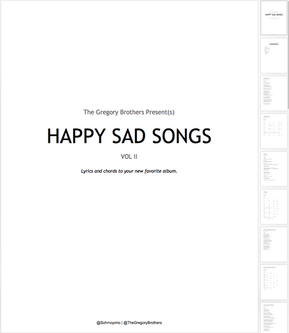 Happy Sad Songs Vol. II - Digital Download – The Gregory Brothers