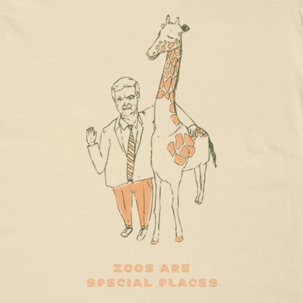 The Gregory Brothers - Zoos Are Special Places Tee - Cream
