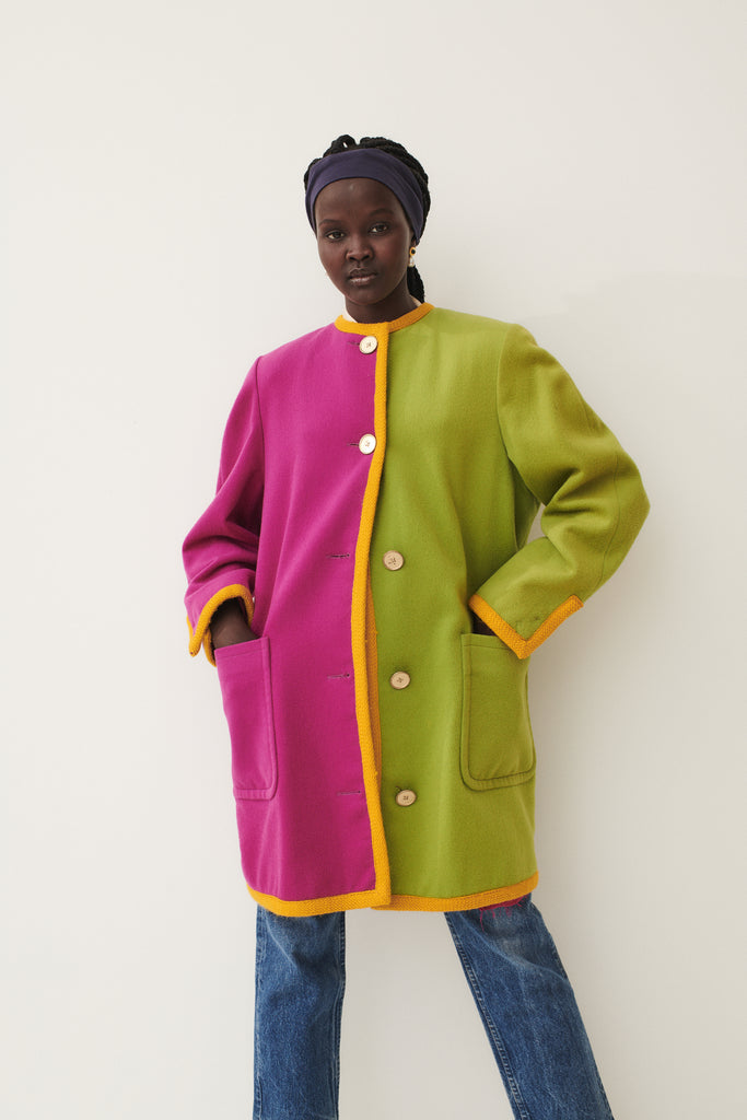 Two-Tone Bill Blass Peacoat