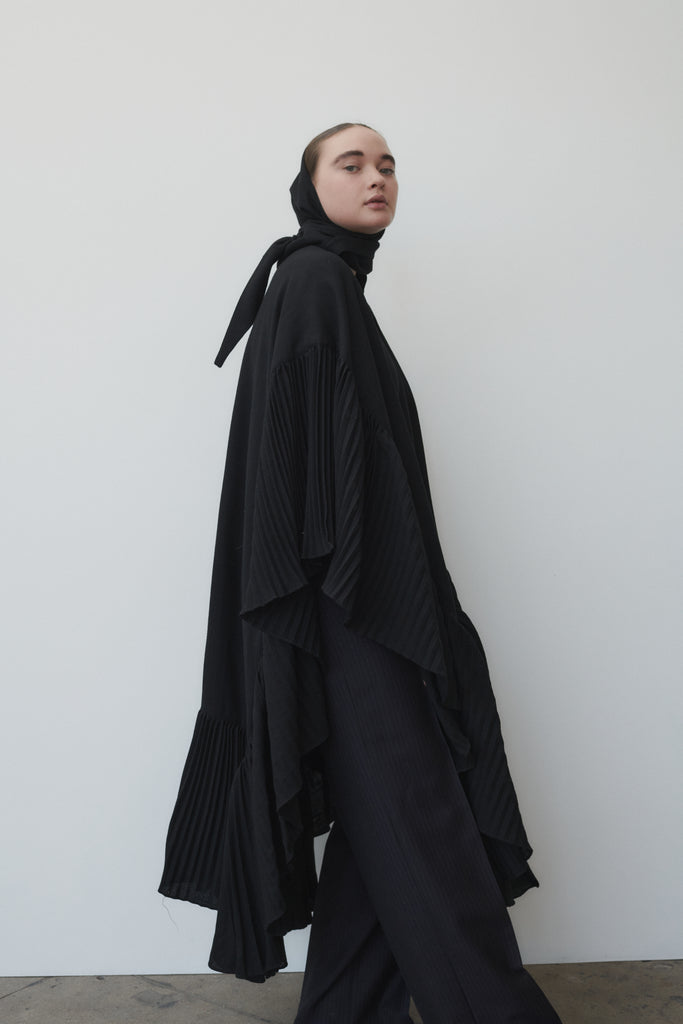 Vintage Cashmere Pleated Cape