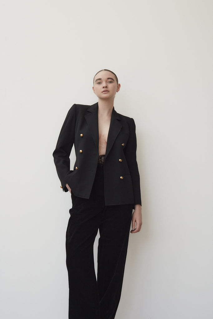 YSL Black Double Breasted Blazer