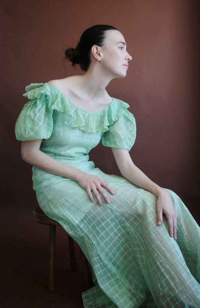 1930's Green Gown