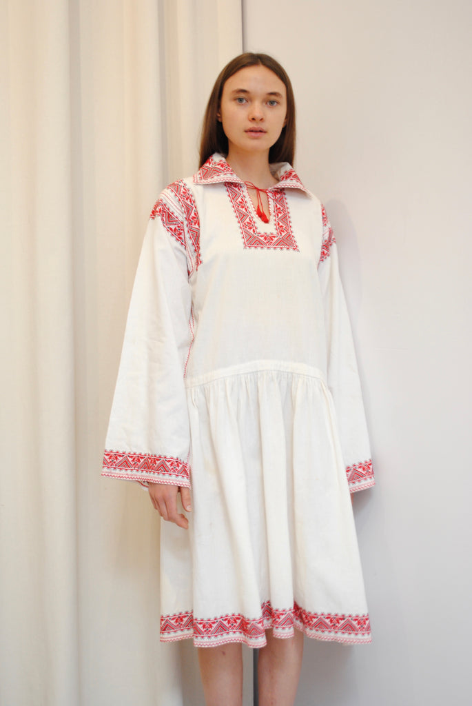 1920's Embroidered Peasant Dress