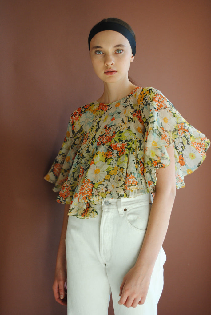 1930's Tiered Floral Caplet