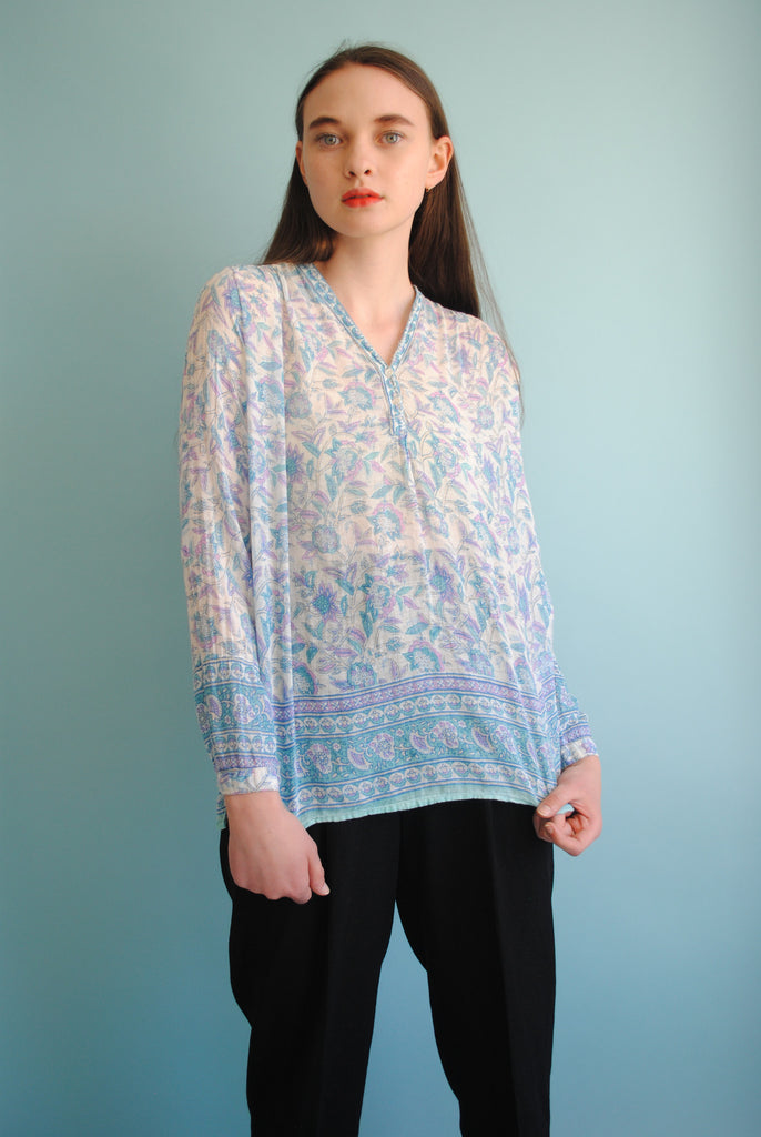 Printed India Gauze Blouse