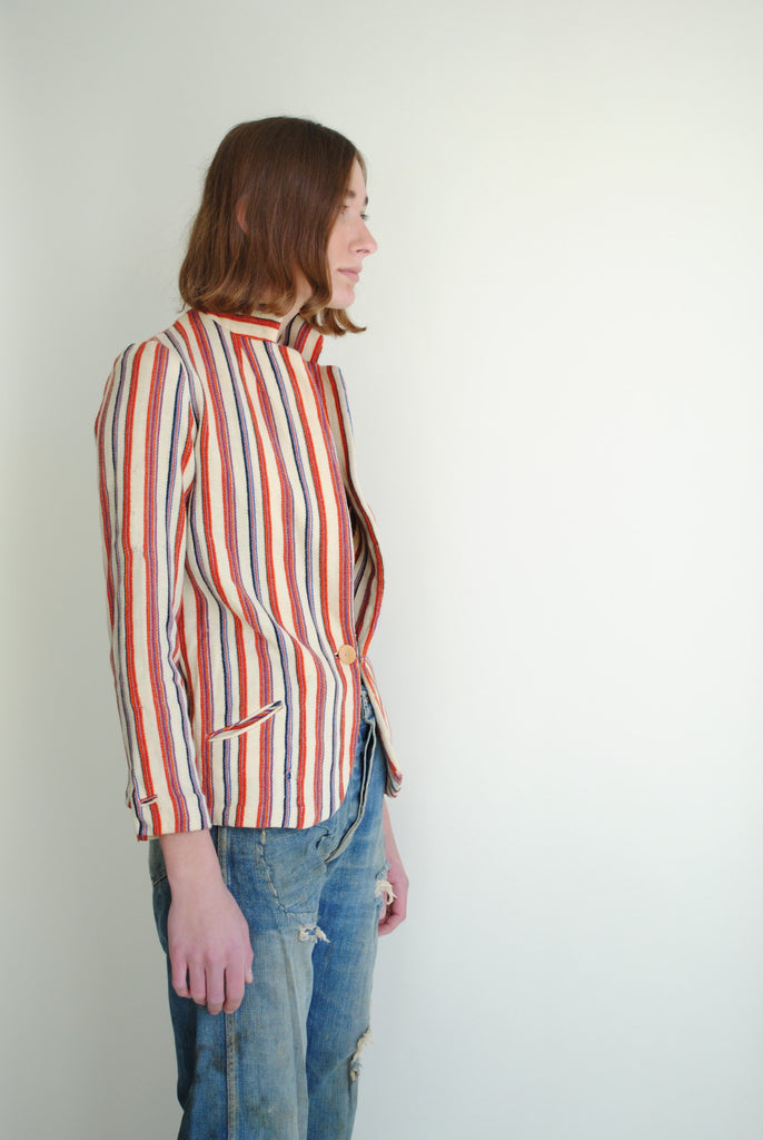1930's Striped Knit Blazer
