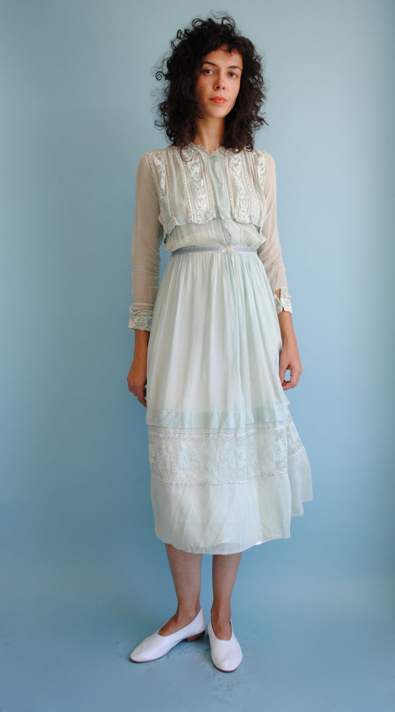Edwardian Mint Green Dress