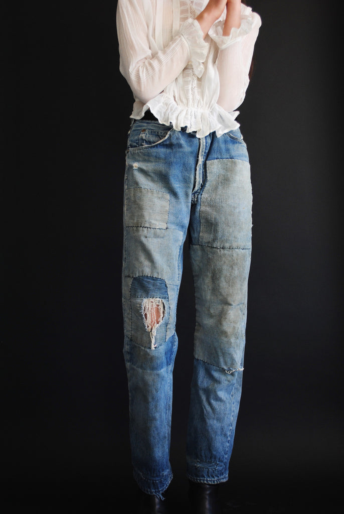1940's Patched Denim