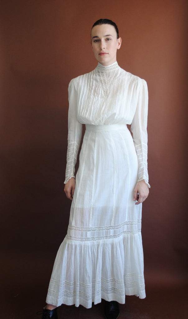 Victorian White Gauze Dress