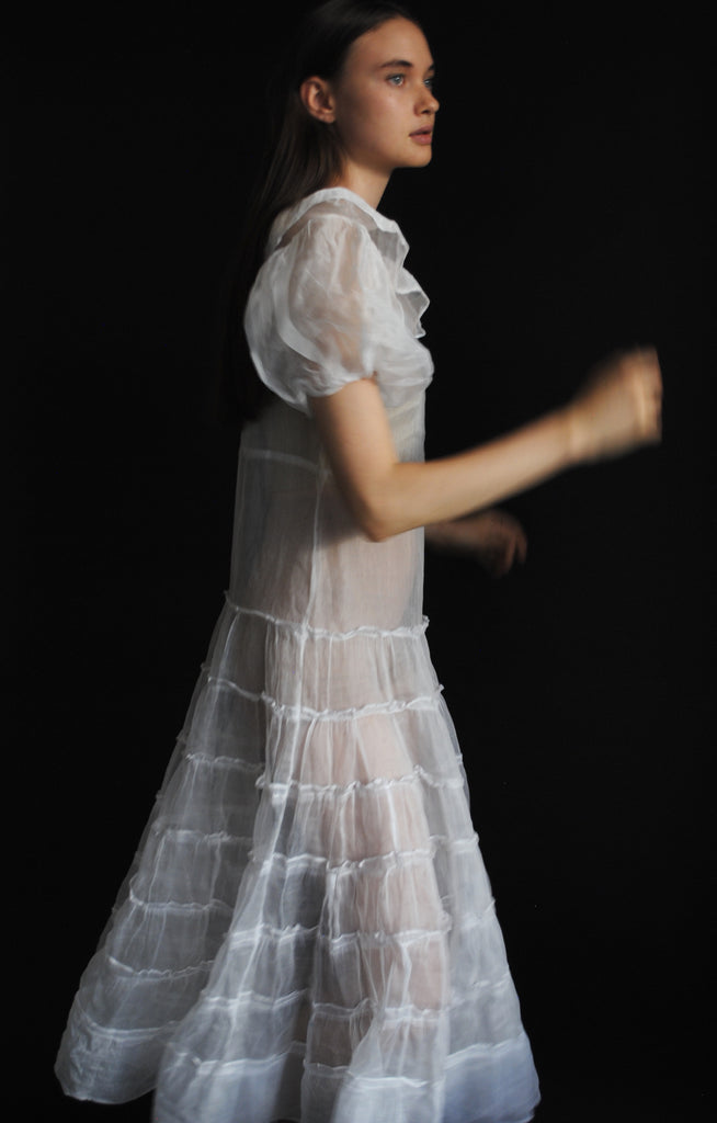 1930s Organza Tiered Dress