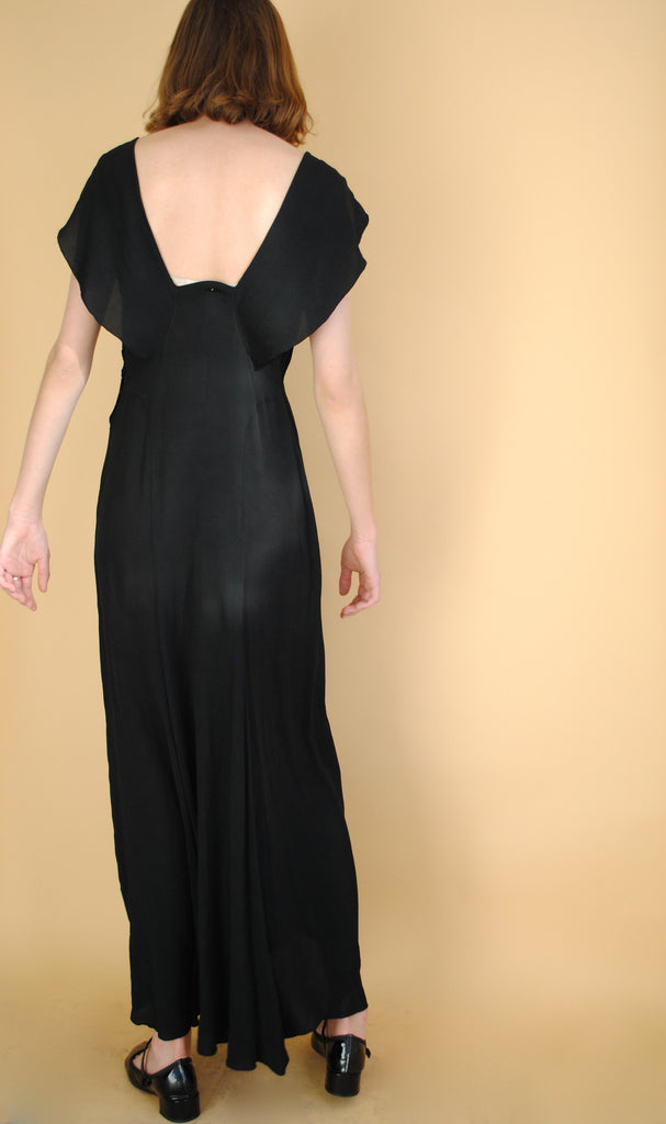 1930's Crepe Evening Dress