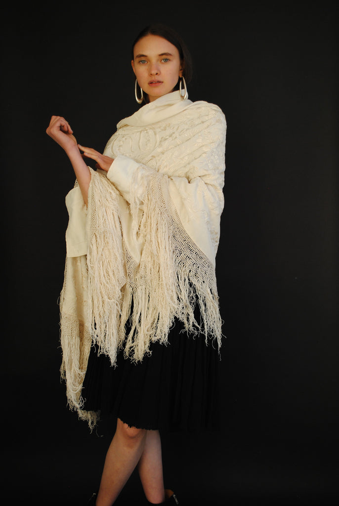 1920's Ivory Piano Shawl