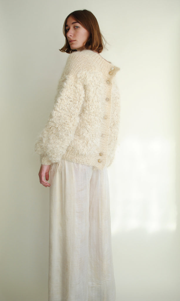 Ivory Mohair Sweater