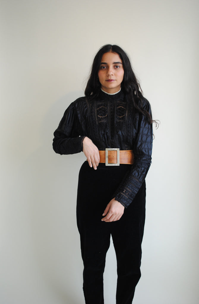 Black Edwardian Top